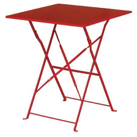 Biergartentisch Gartentisch Klappbar Rot 60 X 60 Cm Mobel Star