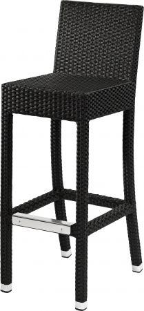 barhocker outdoor dante 100br mit r ckenlehne schwarz. Black Bedroom Furniture Sets. Home Design Ideas