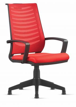 Drehstuhl ohne rollen  Besucherstuhl Drehstuhl ohne Rollen Rot, Armlehne und Fuß aus ...