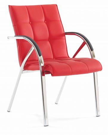 b rostuhl rot mit metallfu armlehne g nstig kaufen. Black Bedroom Furniture Sets. Home Design Ideas