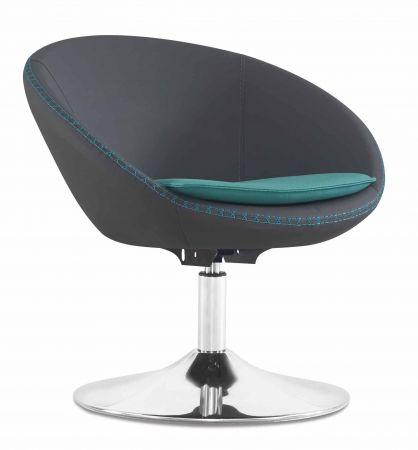 designer besucherstuhl drehstuhl ohne rollen schwarz mit m bel star. Black Bedroom Furniture Sets. Home Design Ideas
