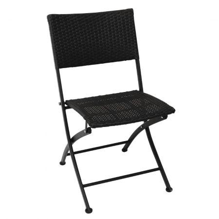 outdoor stuhl krista 155st schwarz klappbar g nstig. Black Bedroom Furniture Sets. Home Design Ideas