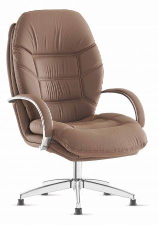 Drehstuhl ohne rollen  Bürostuhl / Chefsessel ROSE höhenverstellbar mit Rädern Braun ...