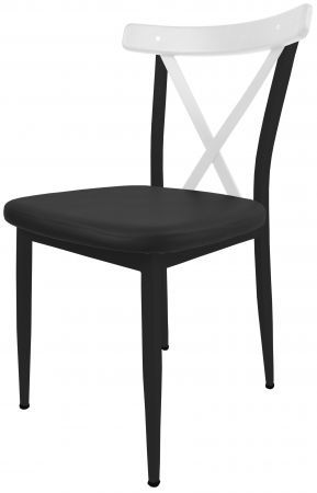 gastro cafe stuhl charlie g400 gestell schwarz weiss metall m bel star. Black Bedroom Furniture Sets. Home Design Ideas