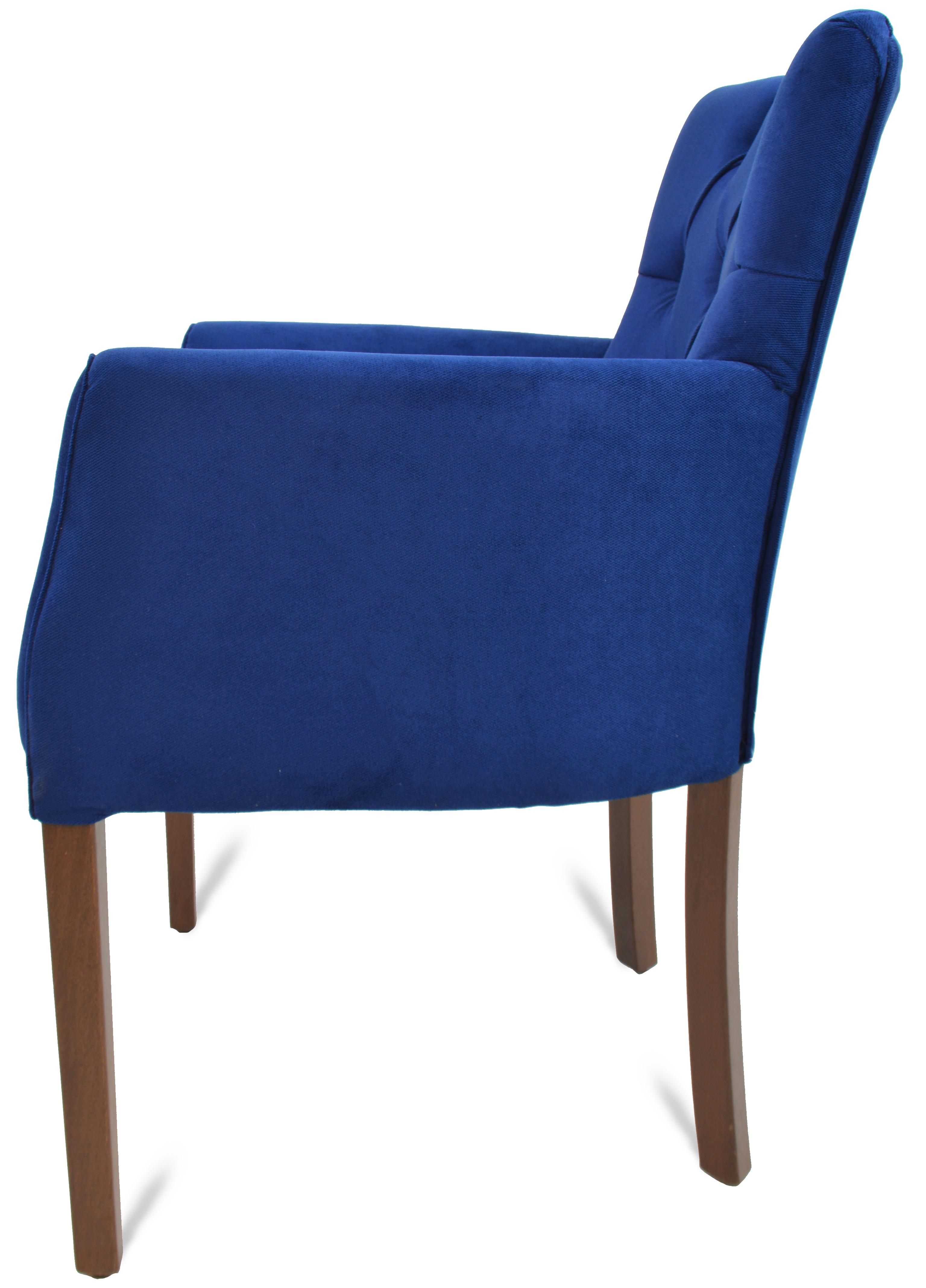 Lounge sessel stuhl kapitone blau mit armlehne g nstig for Sessel stuhl