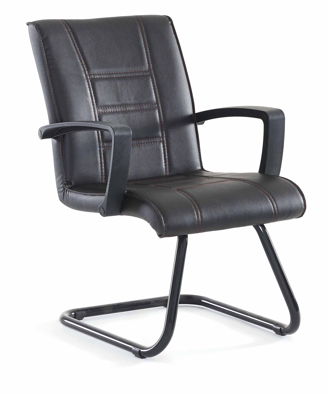 besucherstuhl freischwinger schwarz mit armlehne aus kunststoff m bel star. Black Bedroom Furniture Sets. Home Design Ideas