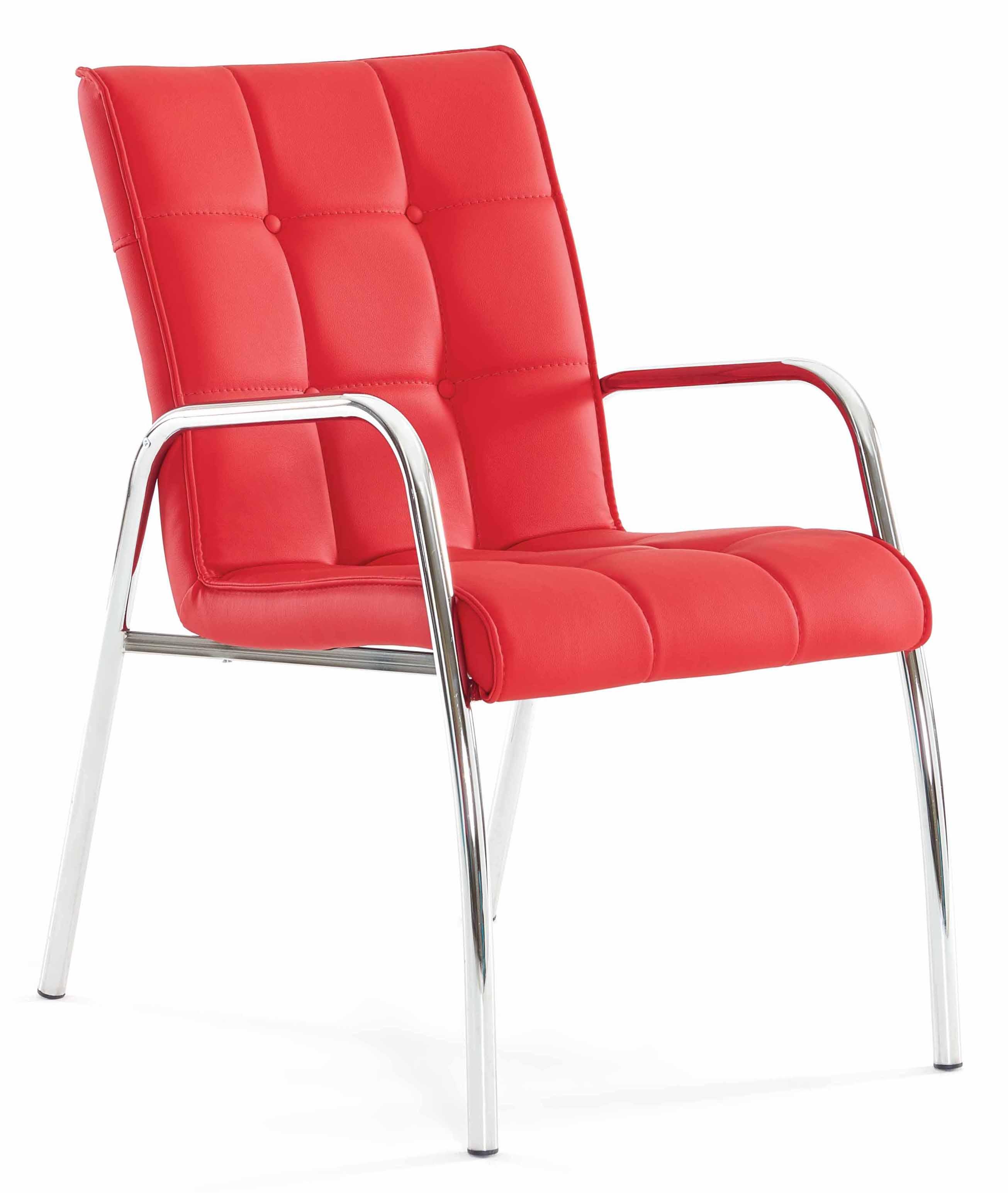 Bürosessel Konferenzstuhl Rot Mit Metallfuß Armlehne Günstig