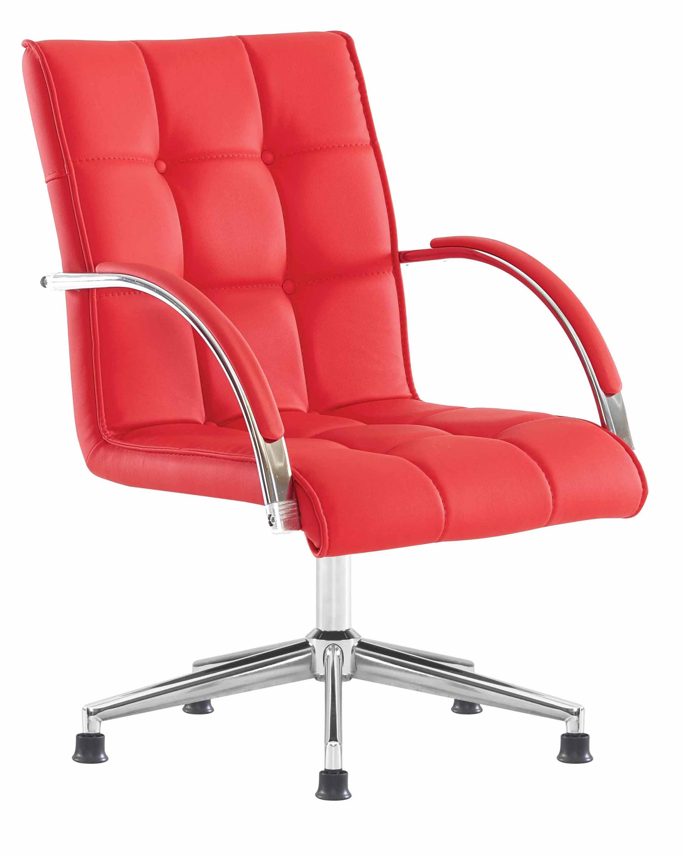b rostuhl rot mit metallfu armlehne g nstig kaufen m bel star. Black Bedroom Furniture Sets. Home Design Ideas