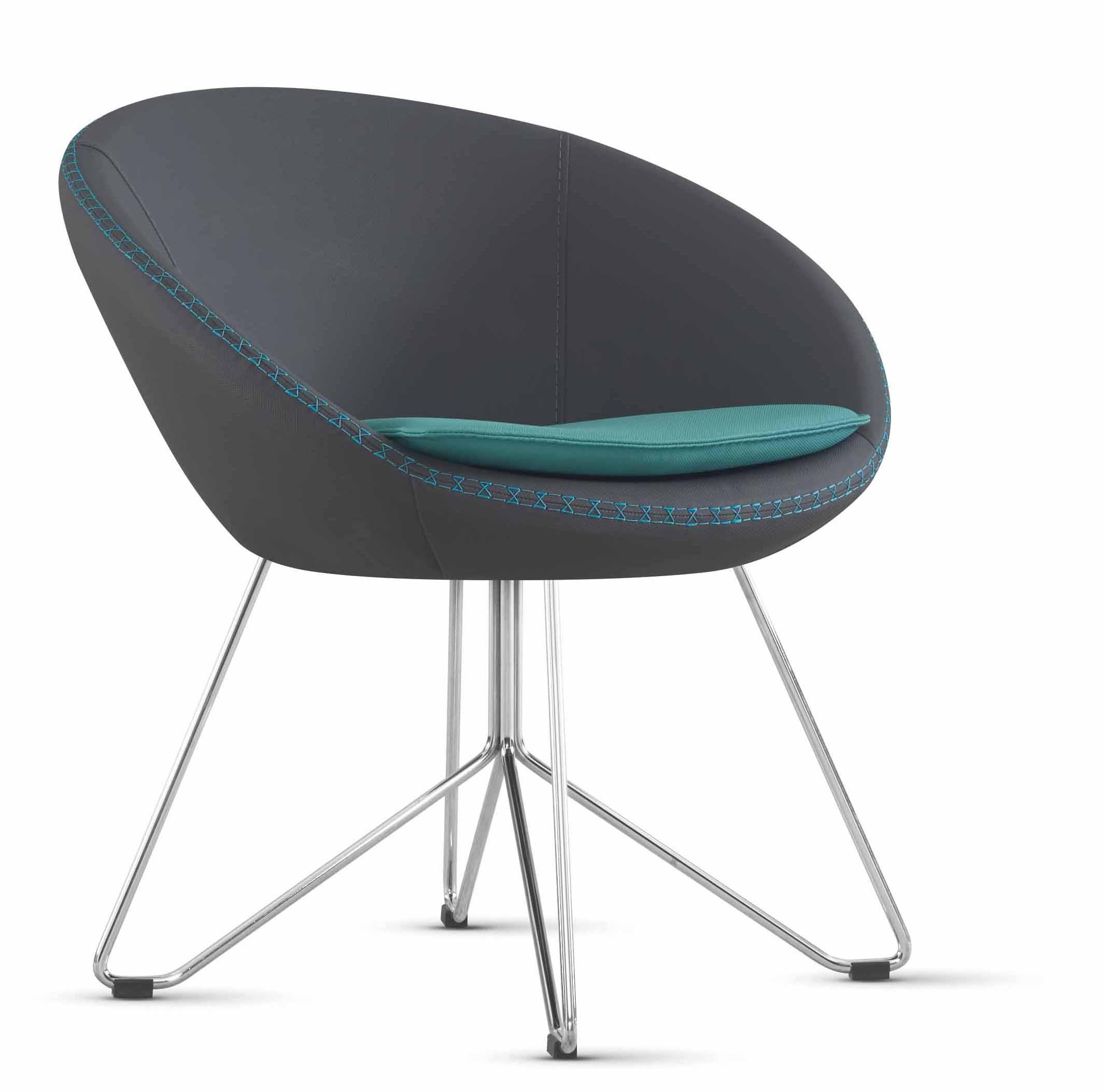 Designer Bürostuhl designer bürostuhl schwarz mit metallfuß nicht drehbar möbel