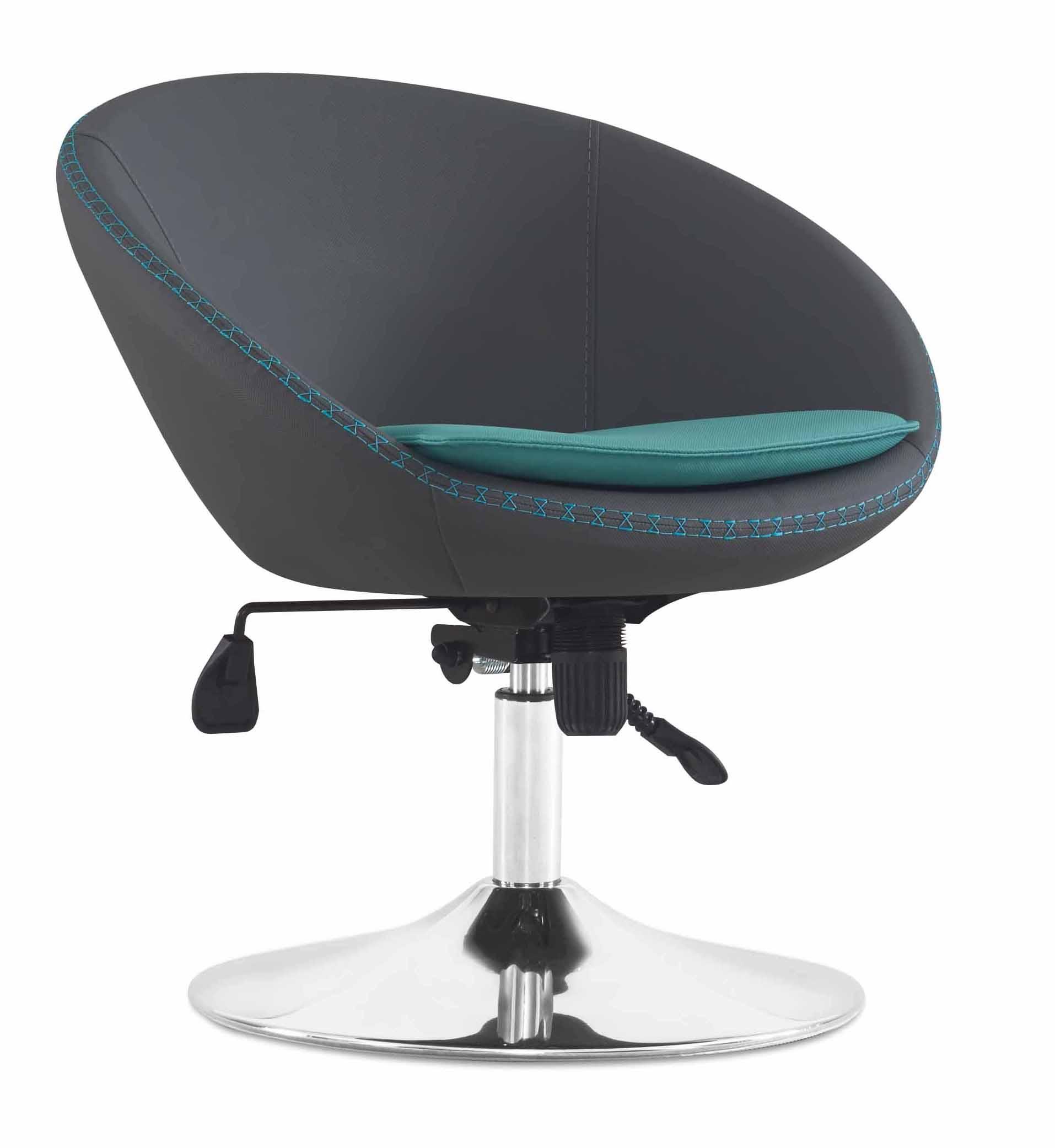 Designer Bürostuhl designer bürostuhl höhenverstellbar schwarz mit metallfuß möbel