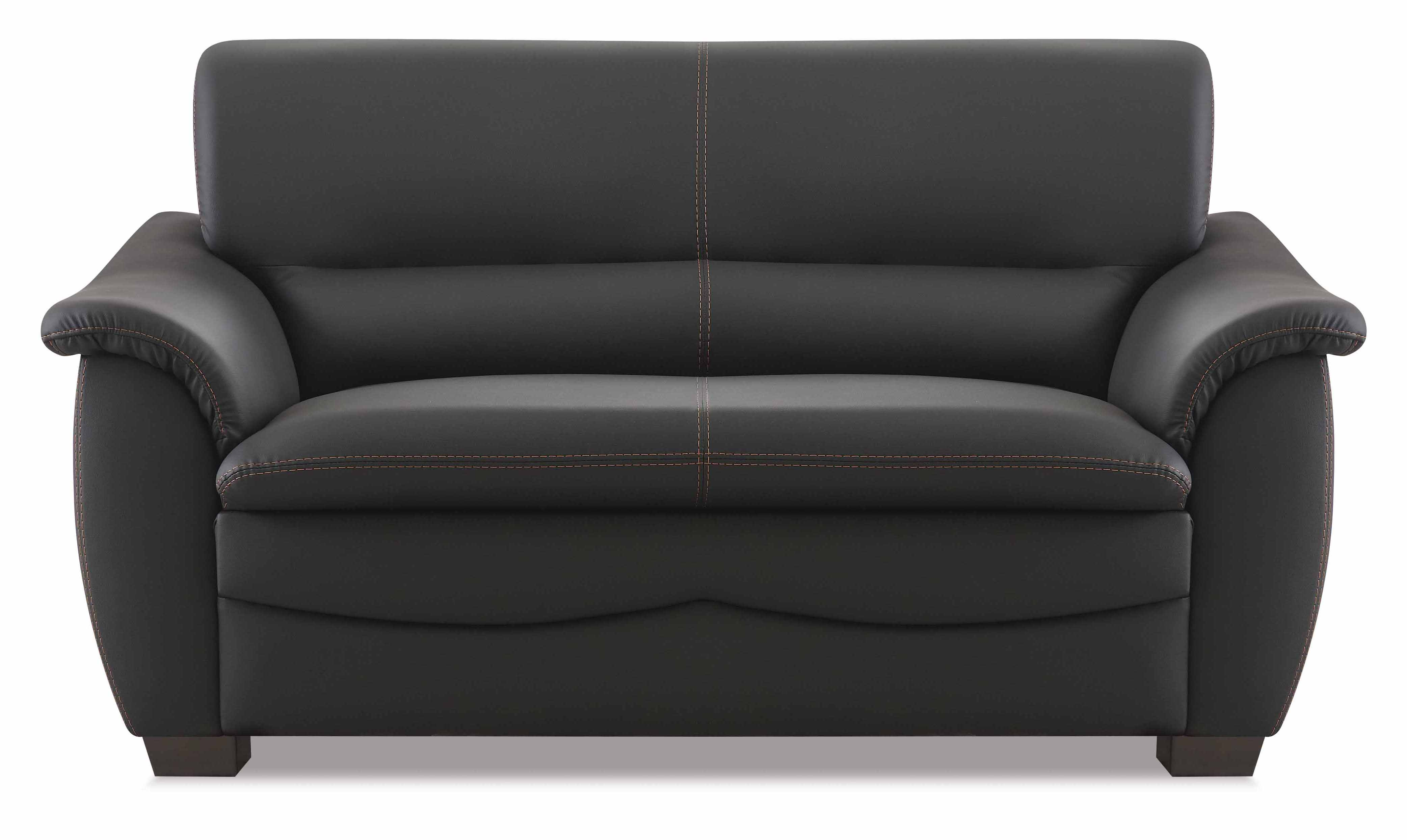 hukla sofa 2 sitzer schwarz g nstig kaufen m bel star. Black Bedroom Furniture Sets. Home Design Ideas