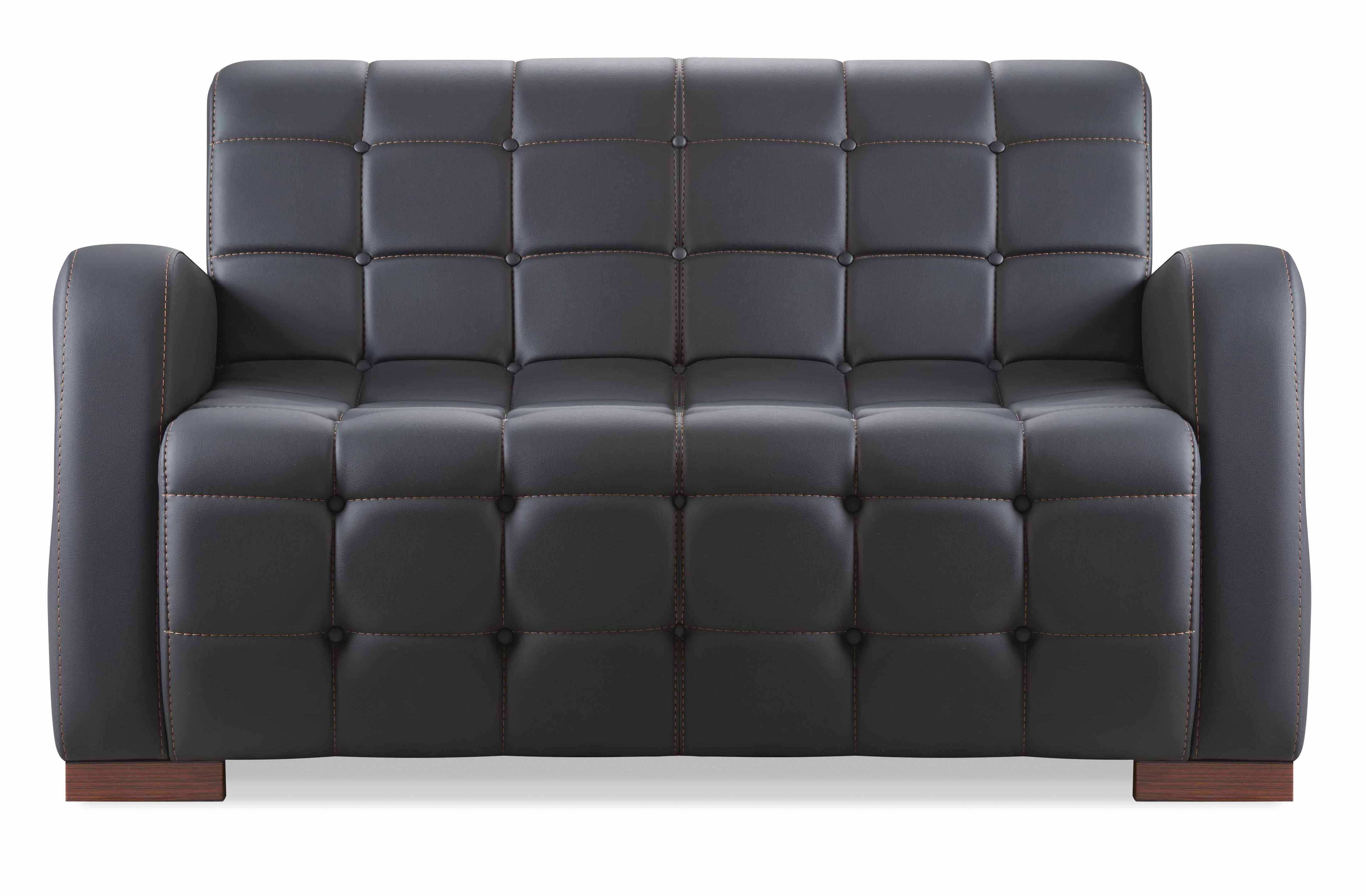 ikon sofa 2 sitzer schwarz g nstig kaufen m bel star. Black Bedroom Furniture Sets. Home Design Ideas