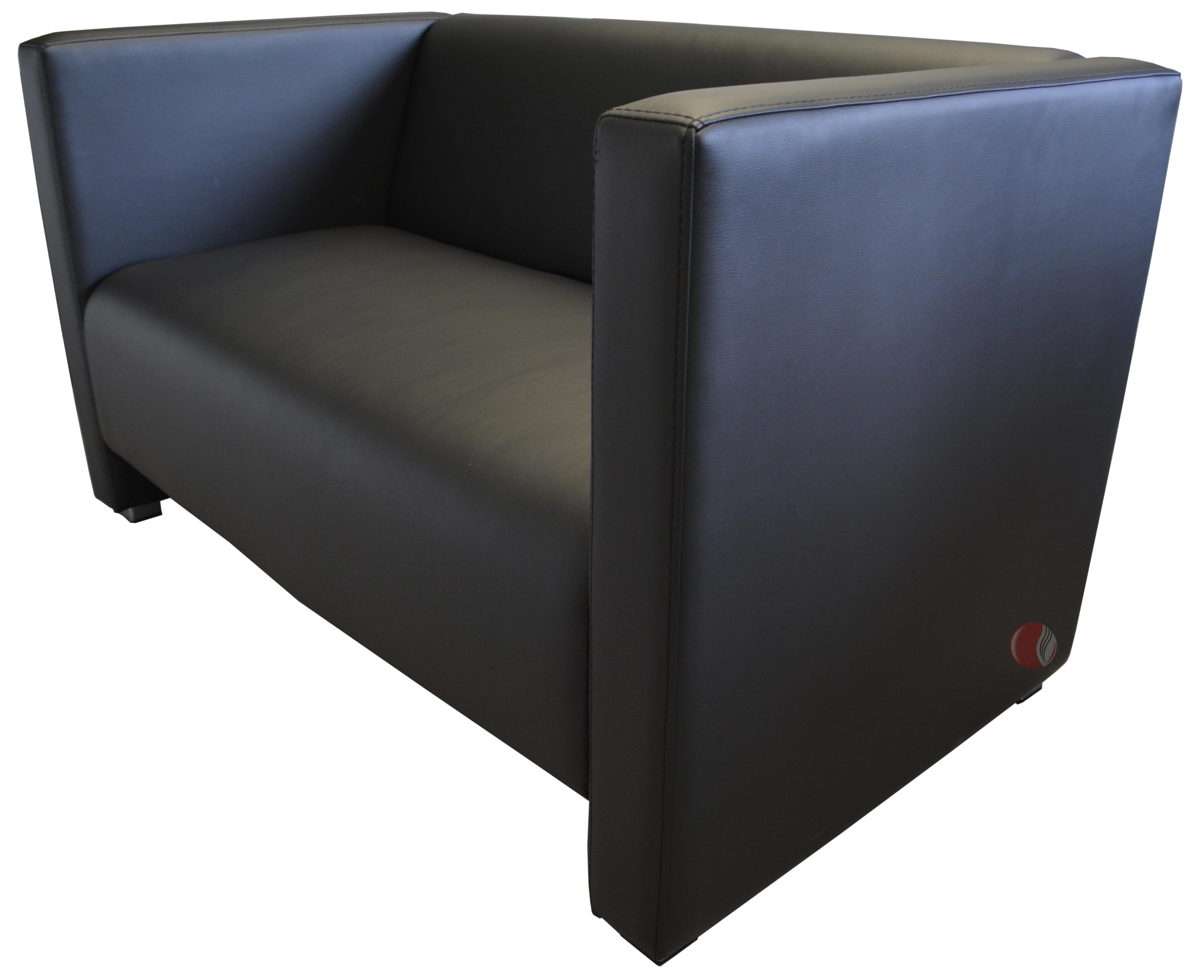 lounge sofa 2 sitzer reka 125 cm schwarz g nstig kaufen m bel star. Black Bedroom Furniture Sets. Home Design Ideas