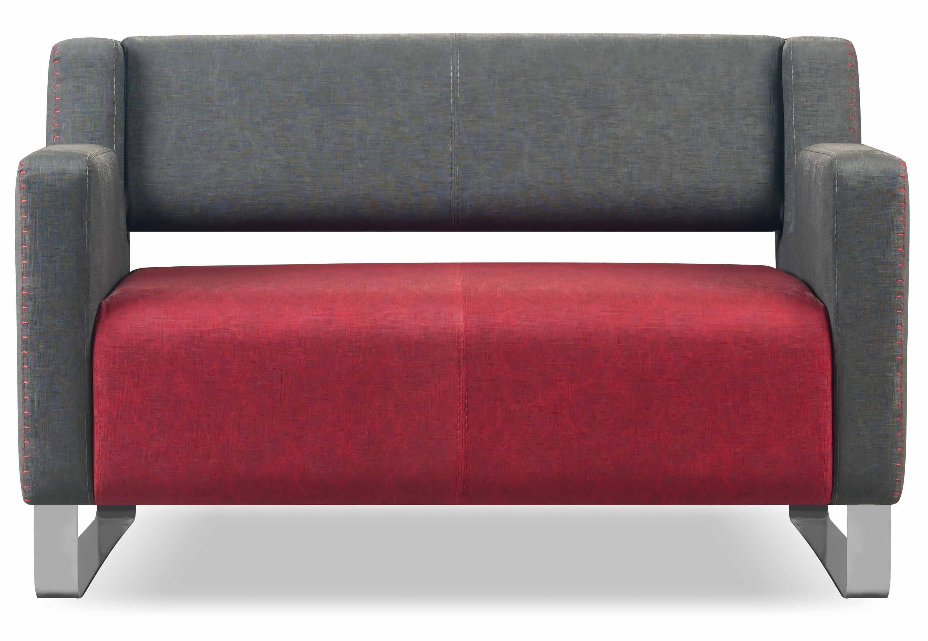 mango sofa 2 sitzer grau bordeaux g nstig kaufen m bel star. Black Bedroom Furniture Sets. Home Design Ideas