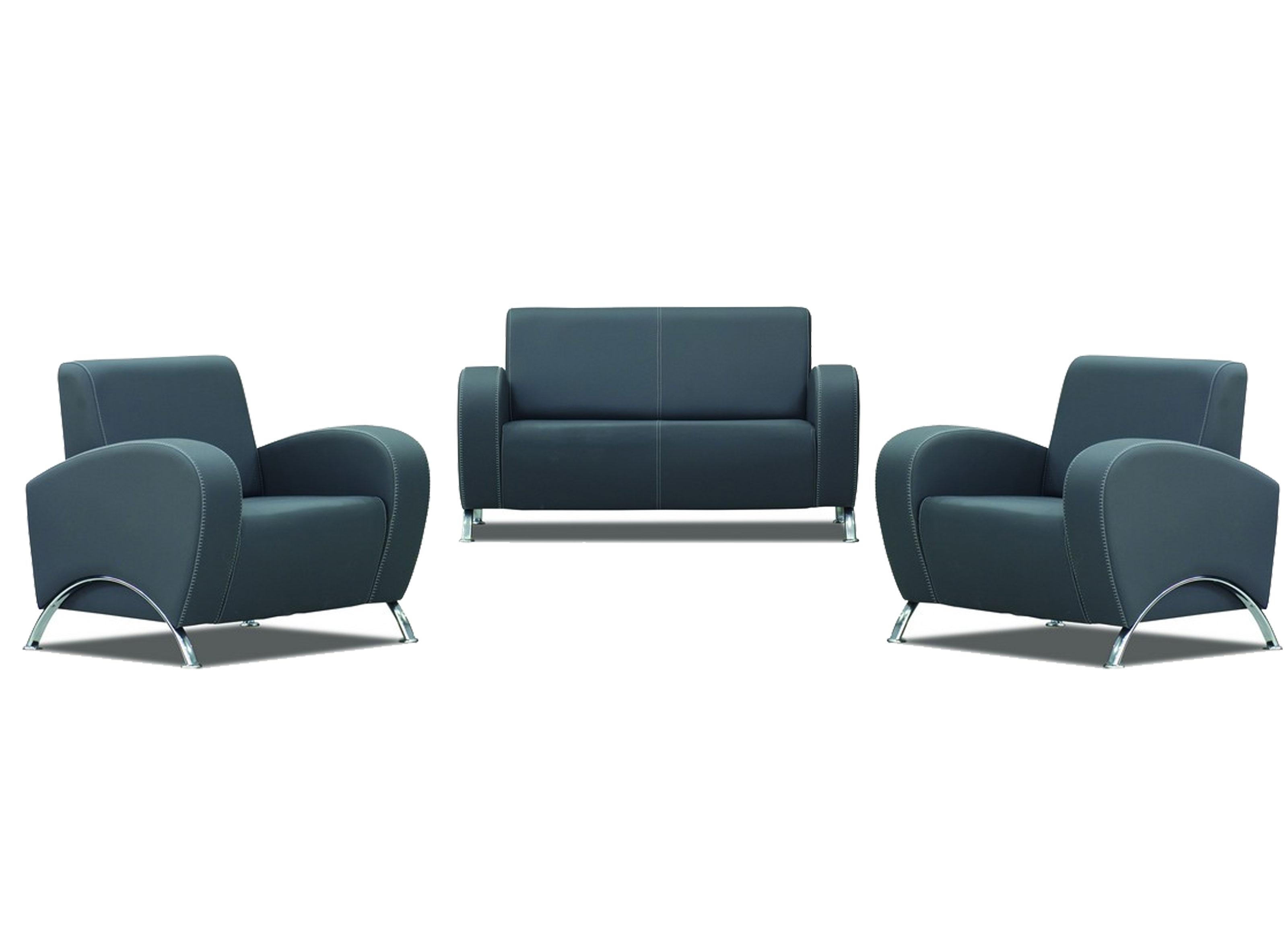 melodi sitzgruppe aus sofa und 2 sesseln in grau g nstig kaufen m bel star. Black Bedroom Furniture Sets. Home Design Ideas