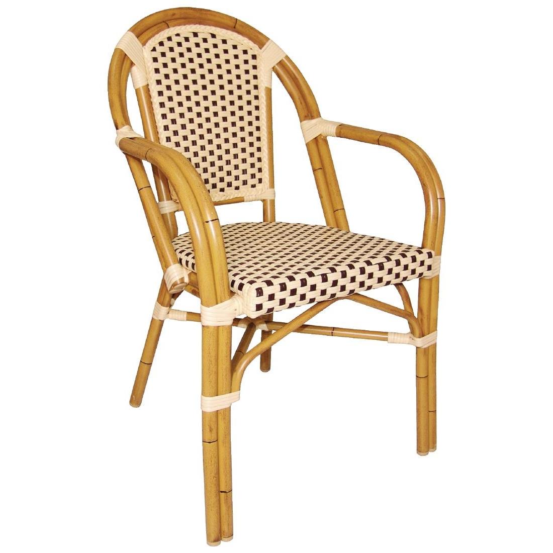 outdoor bistrostuhl krista 365st a braun creme g nstig kaufen m bel star. Black Bedroom Furniture Sets. Home Design Ideas