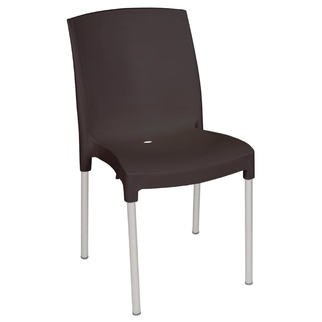 Outdoor stuhl krista 180st schwarz g nstig kaufen m bel star - Outdoor stuhle stapelbar ...