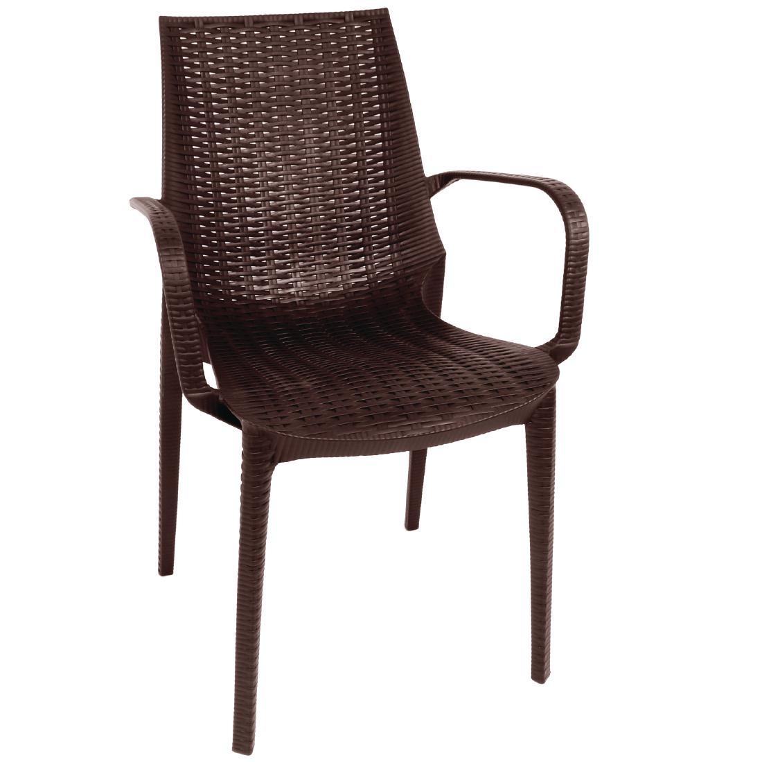 outdoor stuhl krista 190st a braun g nstig kaufen m bel star. Black Bedroom Furniture Sets. Home Design Ideas
