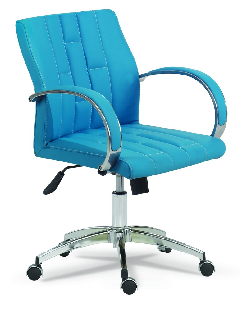 retro b rostuhl drehstuhl mit armlehne hellblau g nstig m bel star. Black Bedroom Furniture Sets. Home Design Ideas