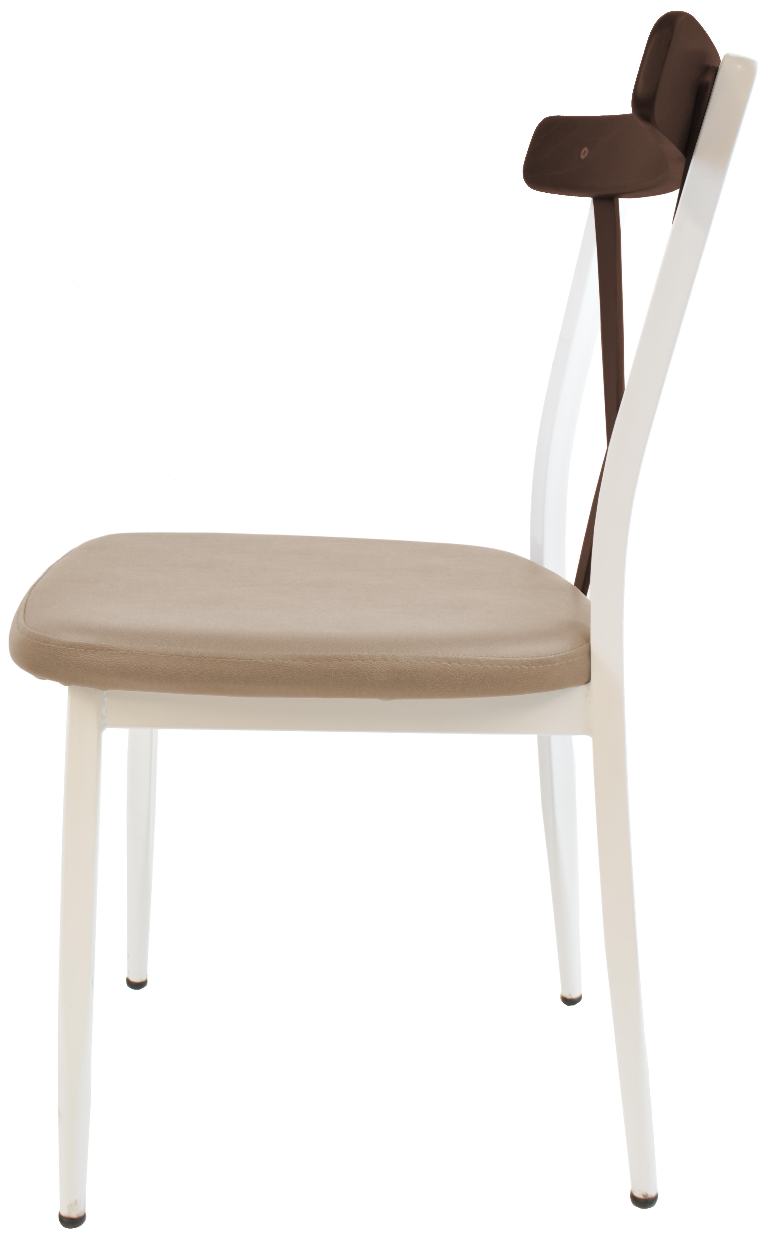 gastronomie cafe stuhl charlie g100 gestell weiss sitz braun m bel star. Black Bedroom Furniture Sets. Home Design Ideas