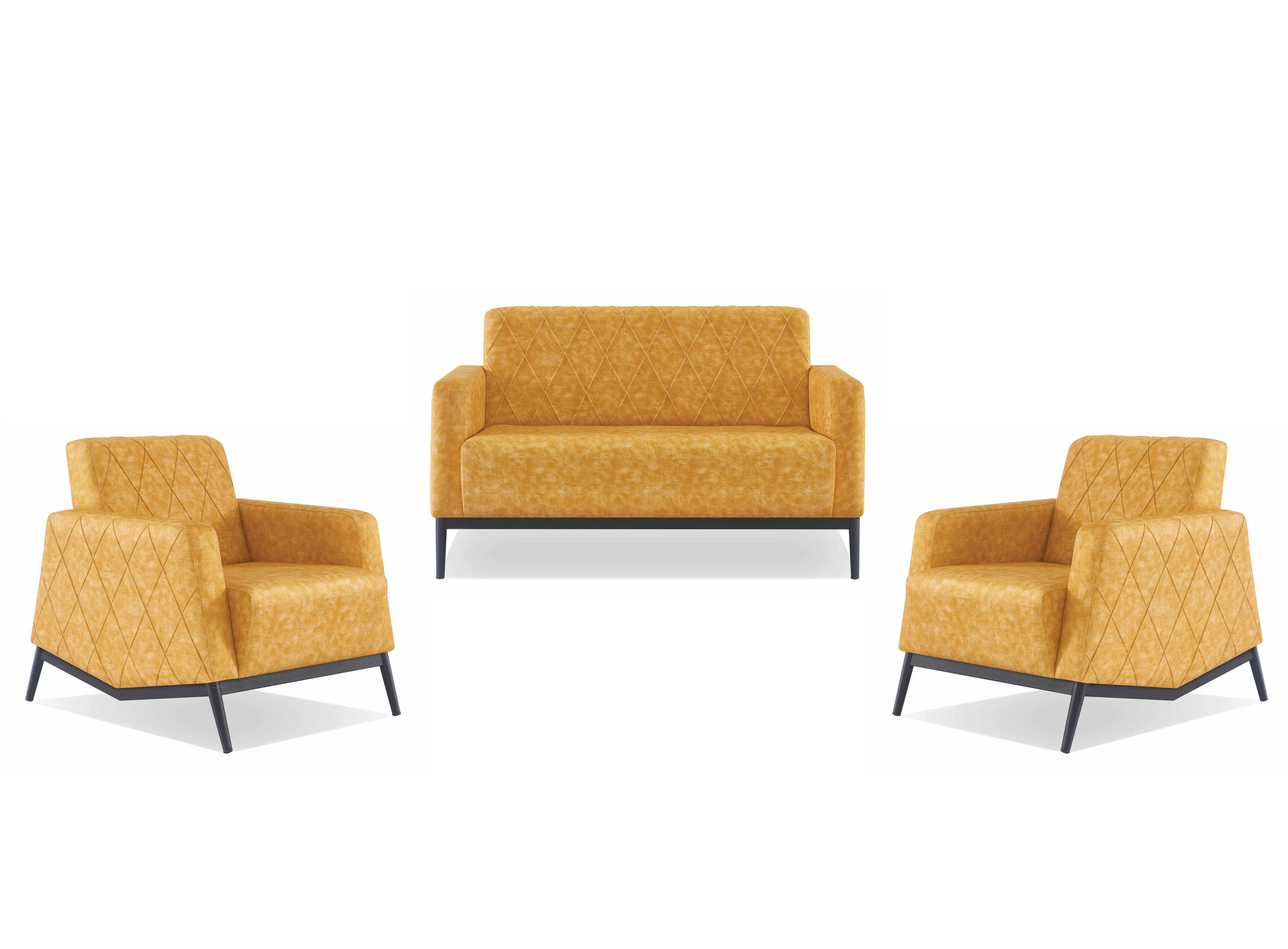 Tanami Sitzgruppe Aus Sofa Und 2 Sesseln In Gelb Gunstig Kaufen