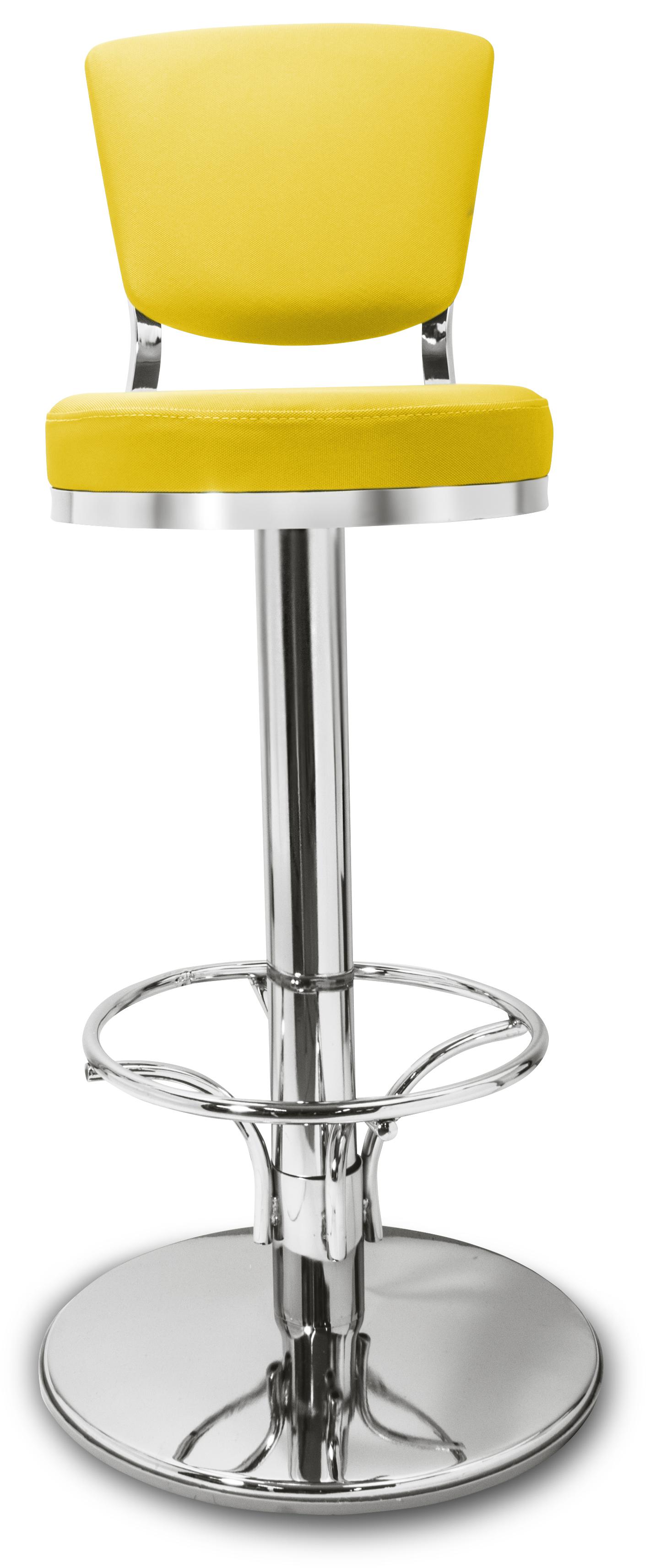 Gastronomie cafe barhocker lindo gelb mit r ckenlehne for Barhocker gelb