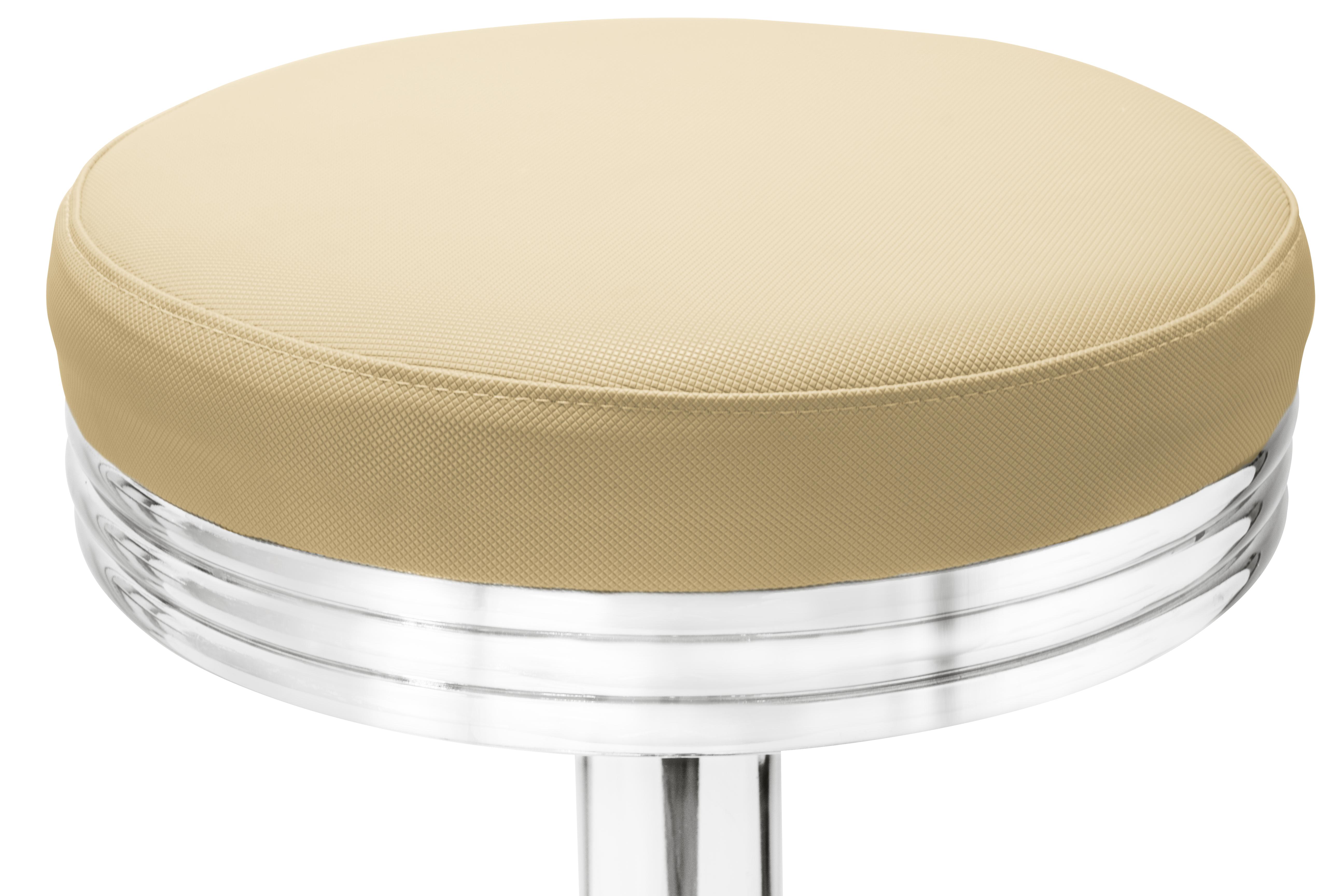 Gastronomie cafe barhocker oval beige mit sitzpolsterung for Barhocker beige