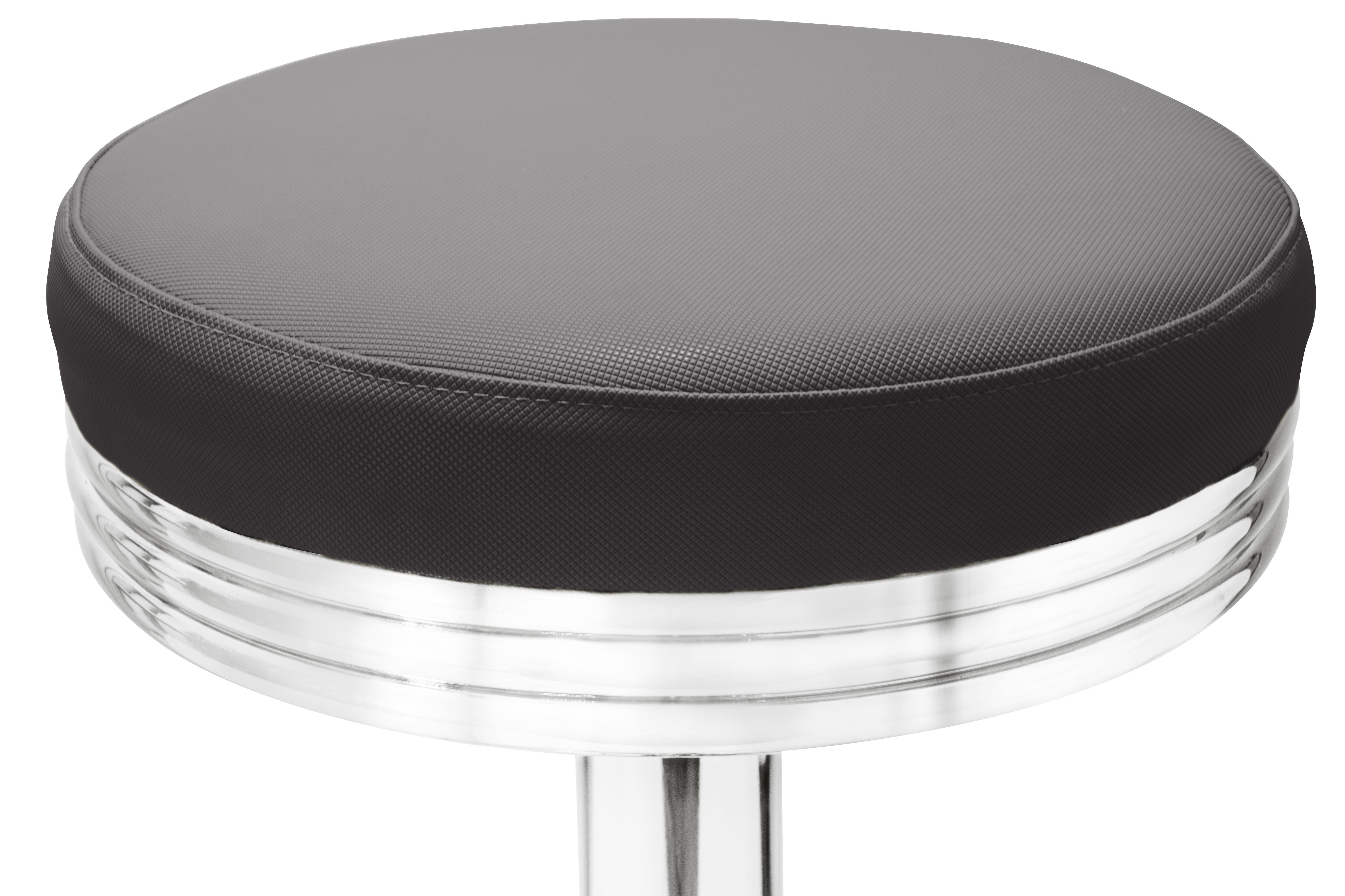gastronomie cafe barhocker oval schwarz mit sitzpolsterung m bel star. Black Bedroom Furniture Sets. Home Design Ideas