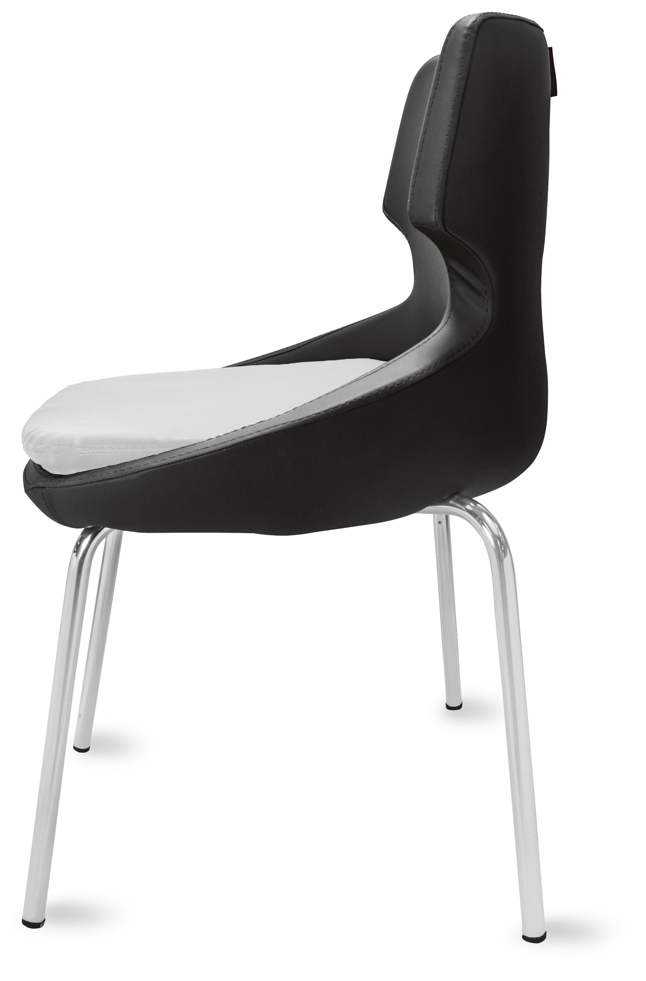 polsterstuhl donna schwarz wei metallf e f r gastronomie. Black Bedroom Furniture Sets. Home Design Ideas