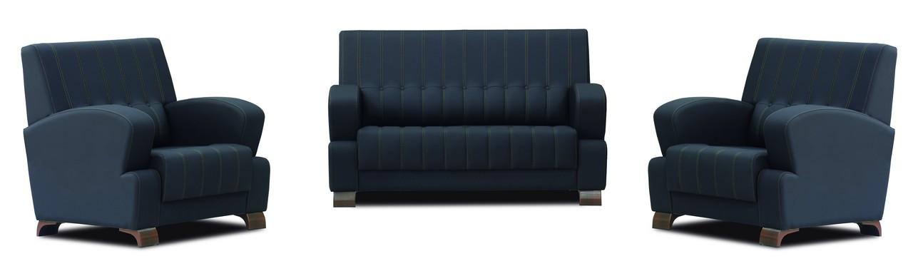Terosa Sitzgruppe Aus Sofa Und 2 Sesseln In Schwarz Gunstig Mobel Star