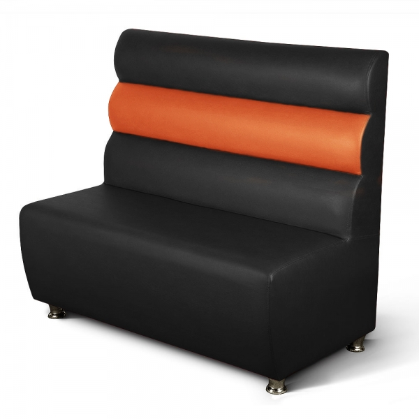 gastronomie polsterbank sitzbank gala schwarz orange l nge 120 m bel star. Black Bedroom Furniture Sets. Home Design Ideas