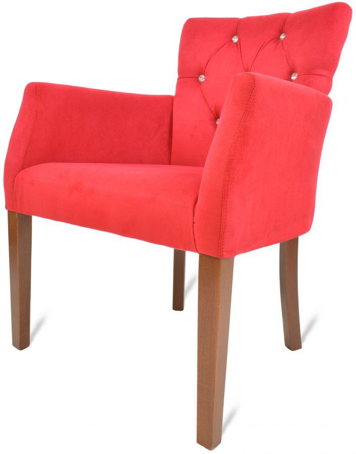 lounge sessel stuhl kapitone rot mit armlehne g nstig kaufen m bel star. Black Bedroom Furniture Sets. Home Design Ideas