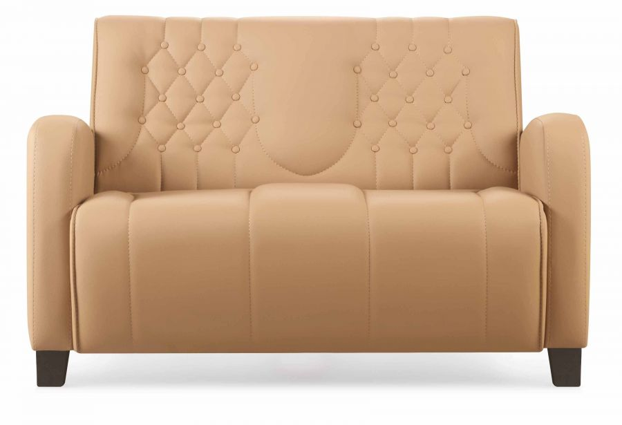 bella sofa 2 sitzer hellbraun g nstig kaufen m bel star. Black Bedroom Furniture Sets. Home Design Ideas