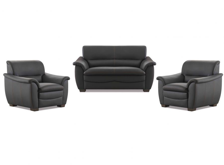 hukla sofa 2 sitzer schwarz m bel star. Black Bedroom Furniture Sets. Home Design Ideas