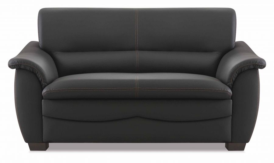 hukla sitzgruppe aus sofa und 2 sesseln in schwarz g nstig m bel star. Black Bedroom Furniture Sets. Home Design Ideas