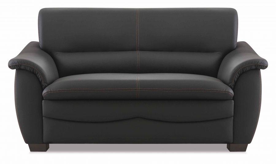 hukla sitzgruppe aus sofa und 2 sesseln in schwarz g nstig m bel star. Black Bedroom Furniture Sets. Home Design Ideas