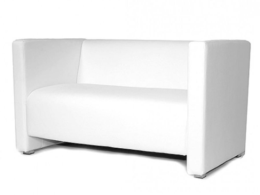 lounge sofa 2 sitzer reka 125 cm weiss m bel star. Black Bedroom Furniture Sets. Home Design Ideas