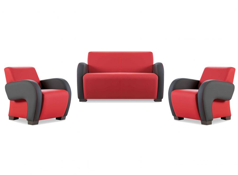 santa sofa 2 sitzer rot schwarz g nstig kaufen m bel star. Black Bedroom Furniture Sets. Home Design Ideas