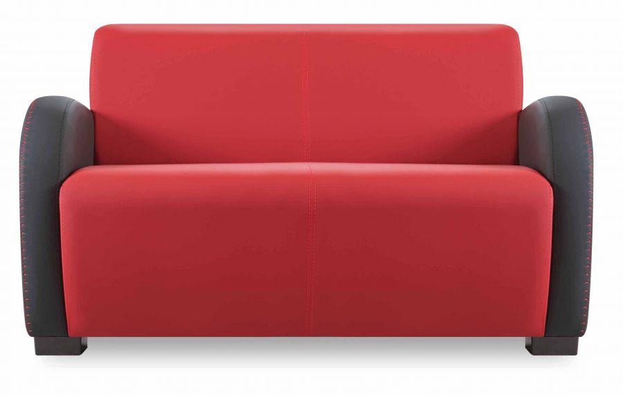 santa sofa 2 sitzer rot schwarz g nstig kaufen m bel star. Black Bedroom Furniture Sets. Home Design Ideas