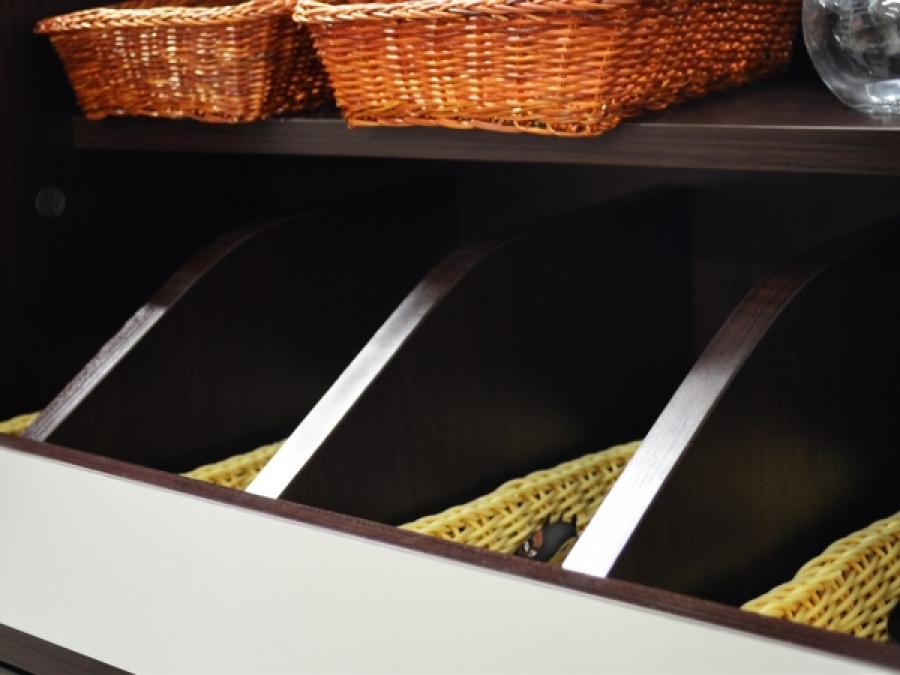 Gastronomie Besteckschrank Wenge ALU 60 cm mit Soft-Close-Tür ...