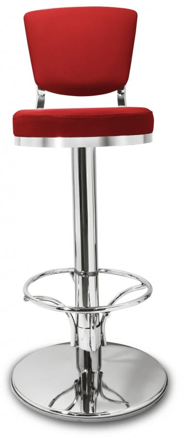 Gastronomie cafe barhocker lindo rot mit r ckenlehne for Barhocker rot