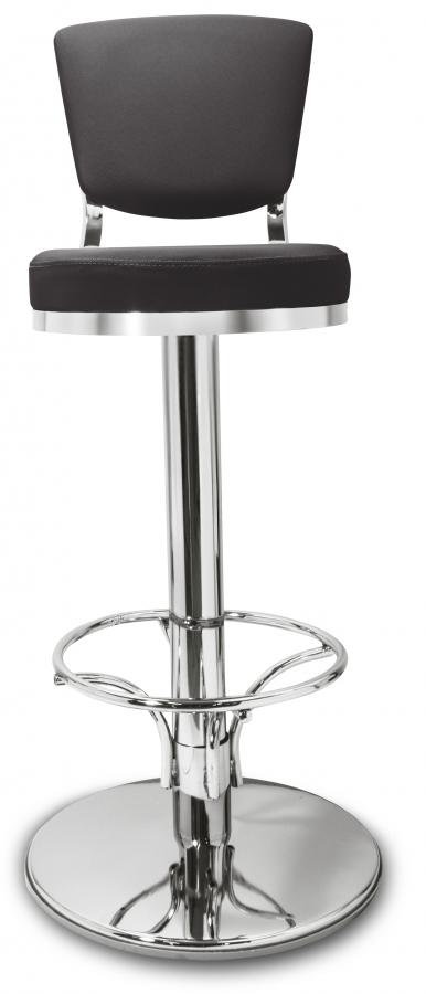 gastronomie cafe barhocker lindo schwarz mit r ckenlehne. Black Bedroom Furniture Sets. Home Design Ideas