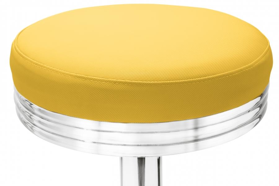 Gastronomie Cafe Barhocker Oval Gelb Mit Sitzpolsterung