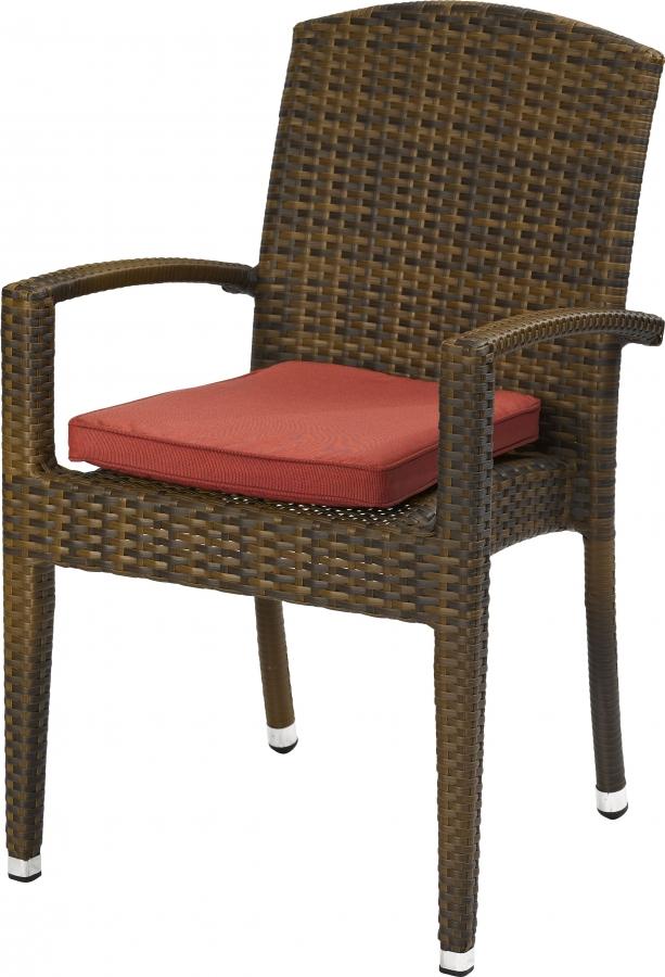 Outdoor Lounge Sessel Favori stapelbar burned mit