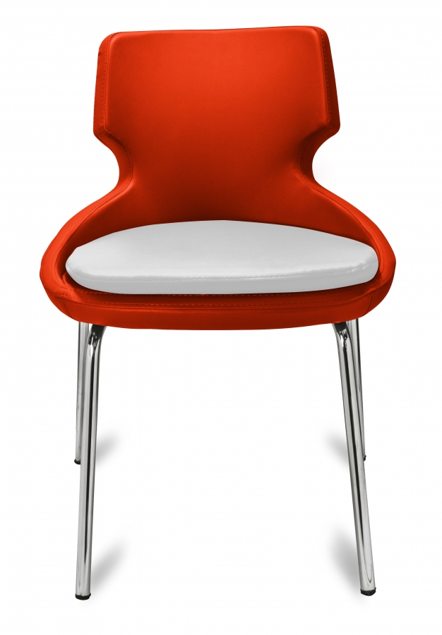 polsterstuhl donna orange wei metallf e f r gastronomie m bel star. Black Bedroom Furniture Sets. Home Design Ideas