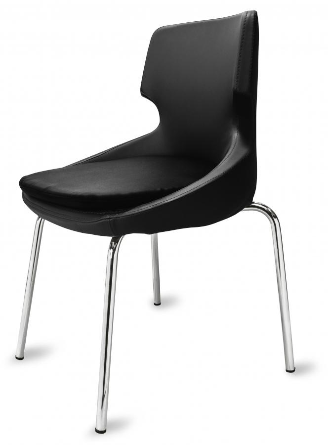 polsterstuhl donna schwarz metallf e f r gastronomie. Black Bedroom Furniture Sets. Home Design Ideas